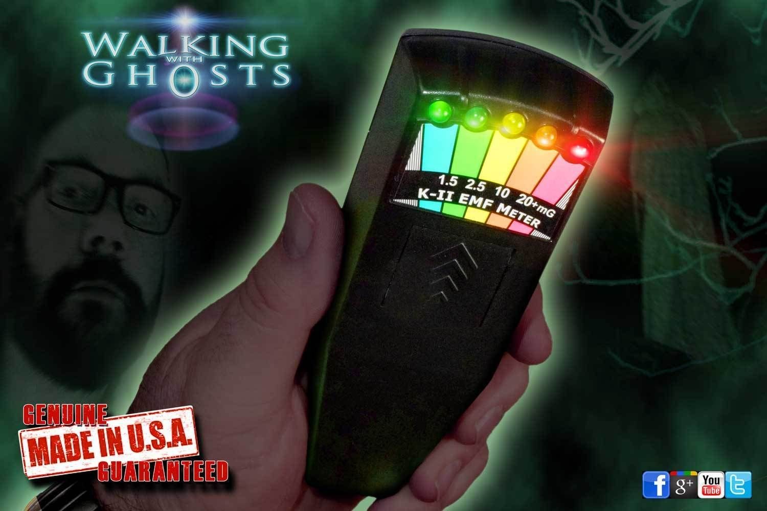 Genuine K2 EMF Meter Black, Ghost Hunting Paranormal Equipment K-II /UK